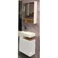 Мебель для ванной Jacob Delafon Terrace 50 подвесная левая белый блестящий лак