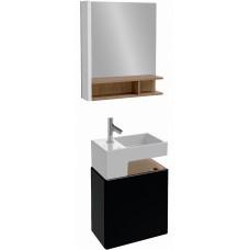 Мебель для ванной Jacob Delafon Terrace 50 подвесная левая черный блестящий лак