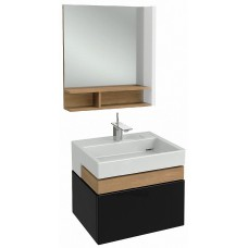 Мебель для ванной Jacob Delafon Terrace 60 подвесная черный блестящий лак