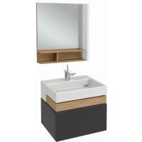 Мебель для ванной Jacob Delafon Terrace 60 подвесная мягкий черный матовый