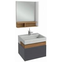 Мебель для ванной Jacob Delafon Terrace 60 подвесная серый антрацит лак