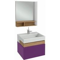 Мебель для ванной Jacob Delafon Terrace 60 подвесная сливовый блестящий лак