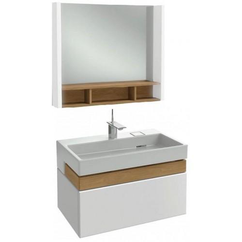 Мебель для ванной Jacob Delafon Terrace 80 подвесная белая глянцевая раковина с подсветкой
