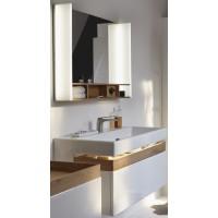 Мебель для ванной Jacob Delafon Terrace 80 подвесная белая глянцевая раковина с подсветкой зеркало с USB разъемом