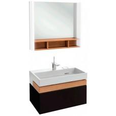 Мебель для ванной Jacob Delafon Terrace 80 подвесная черная матовая