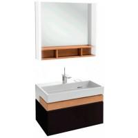 Мебель для ванной Jacob Delafon Terrace 80 подвесная черная матовая раковина с подсветкой