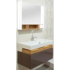 Мебель для ванной Jacob Delafon Terrace 80 подвесная ледяной коричневый матовый раковина с подсветкой