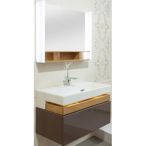 Мебель для ванной Jacob Delafon Terrace 80 подвесная ледяной коричневый сатин раковина с подсветкой