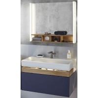 Мебель для ванной Jacob Delafon Terrace 80 подвесная синий бархат раковина с подсветкой зеркало с USB разъемом