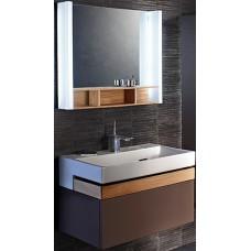 Мебель для ванной Jacob Delafon Terrace 80 подвесная светло-коричневая раковина с подсветкой