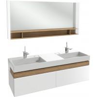 Мебель для ванной Jacob Delafon Terrace Premium 150 подвесная белая глянцевая раковина с подсветкой
