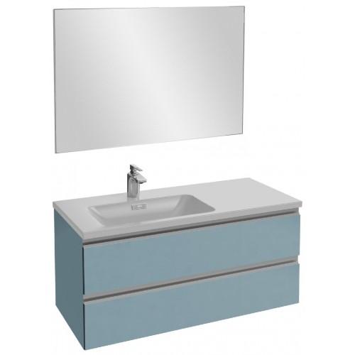 Мебель для ванной Jacob Delafon Vox 100 подвесная левая матовый аквамарин