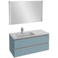 Мебель для ванной Jacob Delafon Vox 100 подвесная левая матовый аквамарин с зеркалом с подсветкой