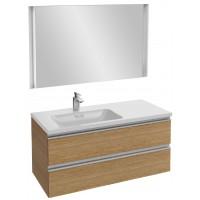 Мебель для ванной Jacob Delafon Vox 100 подвесная левая ореховое дерево с зеркалом с подсветкой