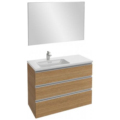 Мебель для ванной Jacob Delafon Vox 100 подвесная левая с 3-мя ящиками ореховое дерево