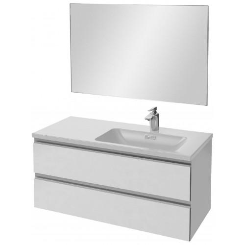 Мебель для ванной Jacob Delafon Vox 100 подвесная правая белая блестящая