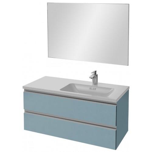 Мебель для ванной Jacob Delafon Vox 100 подвесная правая матовый аквамарин