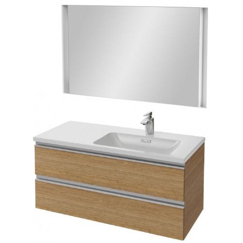 Мебель для ванной Jacob Delafon Vox 100 подвесная правая ореховое дерево с зеркалом с подсветкой