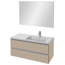 Мебель для ванной Jacob Delafon Vox 100 подвесная правая розово-бежевая