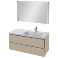 Мебель для ванной Jacob Delafon Vox 100 подвесная правая розово-бежевая с зеркалом с подсветкой