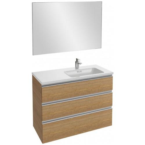 Мебель для ванной Jacob Delafon Vox 100 подвесная правая с 3-мя ящиками ореховое дерево