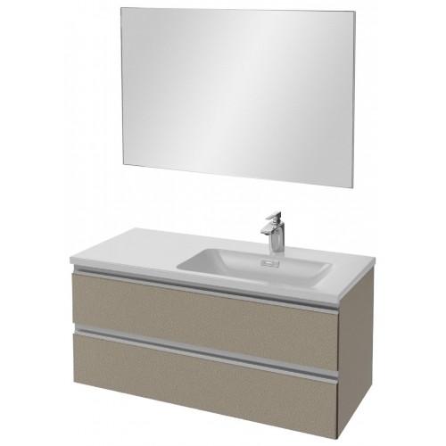 Мебель для ванной Jacob Delafon Vox 100 подвесная правая серая кожа
