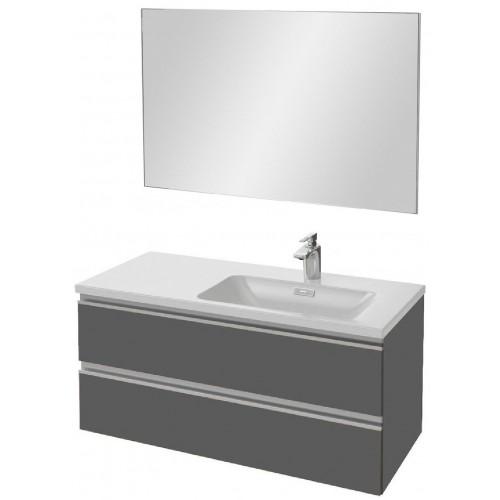 Мебель для ванной Jacob Delafon Vox 100 подвесная правая серый антрацит глянцевый