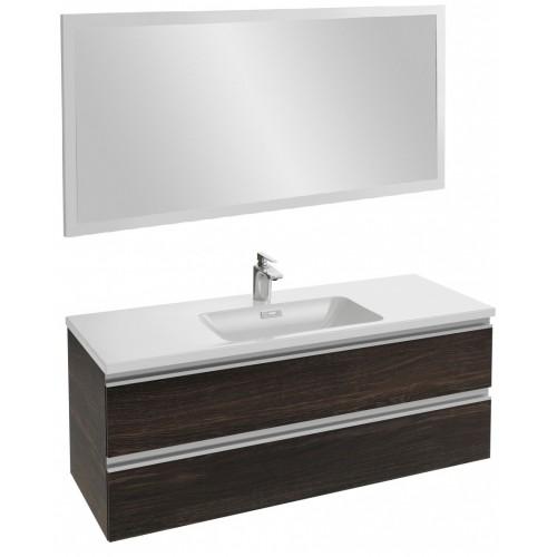 Мебель для ванной Jacob Delafon Vox 120 подвесная черное дерево с зеркалом со светодиодной подсветкой