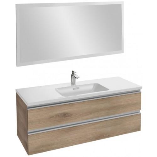 Мебель для ванной Jacob Delafon Vox 120 подвесная квебекский дуб с зеркалом со светодиодной подсветкой