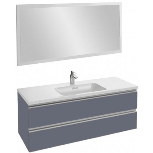 Мебель для ванной Jacob Delafon Vox 120 подвесная насыщенный серый матовый с зеркалом со светодиодной подсветкой