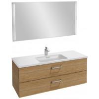 Мебель для ванной Jacob Delafon Vox 120 подвесная с 2-мя ящиками с изогнутой ручкой ореховое дерево