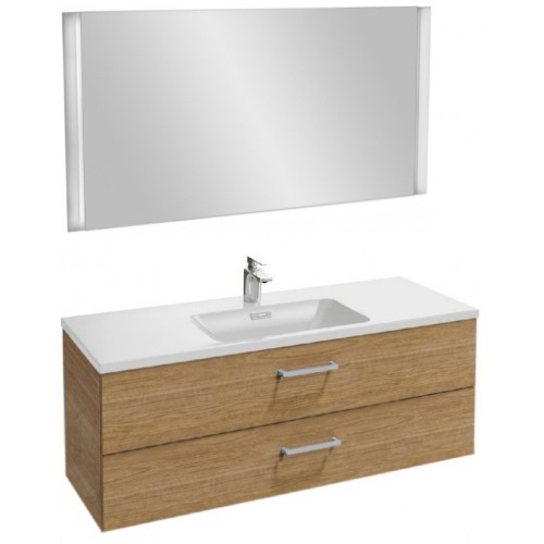 Мебель для ванной Jacob Delafon Vox 120 подвесная с 2-мя ящиками с прямоугольной ручкой ореховое дерево