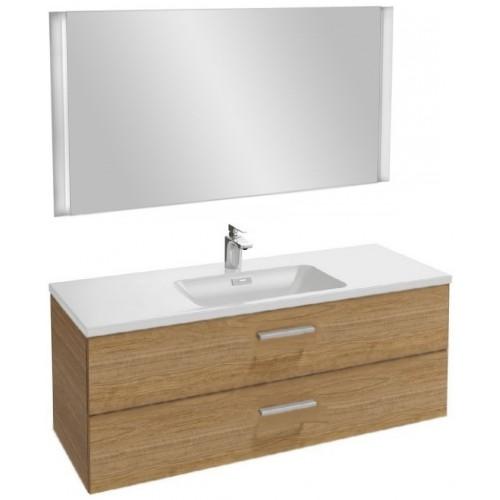 Мебель для ванной Jacob Delafon Vox 120 подвесная с 2-мя ящиками с прямой ручкой ореховое дерево