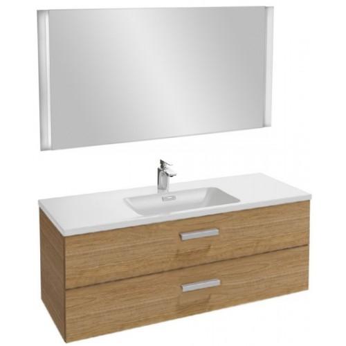 Мебель для ванной Jacob Delafon Vox 120 подвесная с 2-мя ящиками с угловой ручкой ореховое дерево