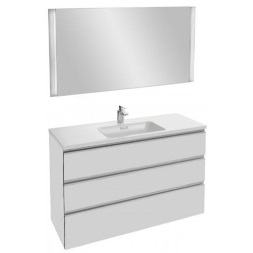 Мебель для ванной Jacob Delafon Vox 120 подвесная с 3-мя ящиками белый блестящий лак