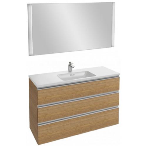 Мебель для ванной Jacob Delafon Vox 120 подвесная с 3-мя ящиками ореховое дерево