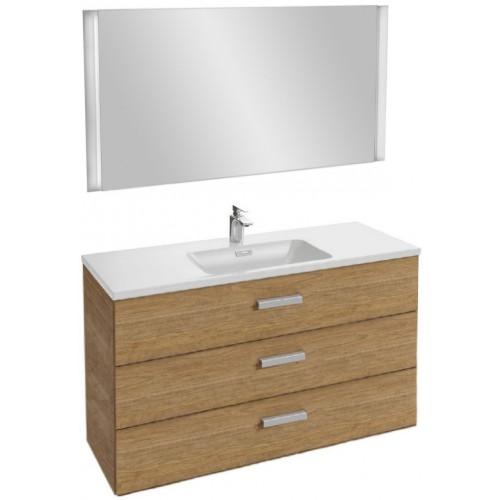 Мебель для ванной Jacob Delafon Vox 120 подвесная с 3-мя ящиками с угловой ручкой ореховое дерево