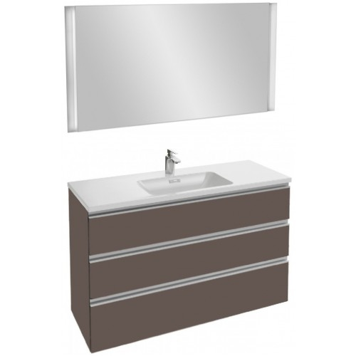 Мебель для ванной Jacob Delafon Vox 120 подвесная с 3-мя ящиками светло-коричневая глянцевая