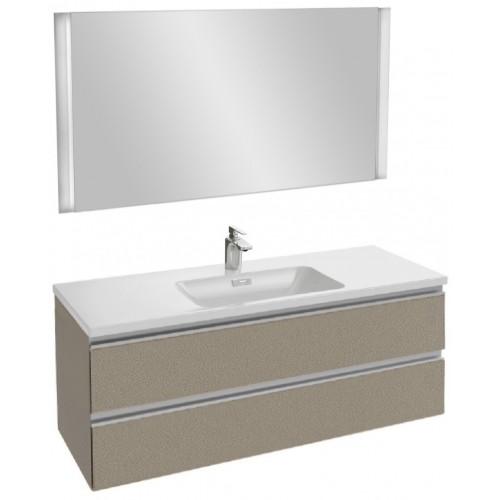 Мебель для ванной Jacob Delafon Vox 120 подвесная серая кожа