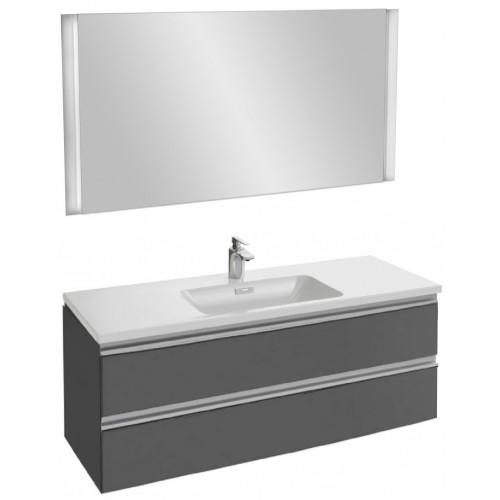 Мебель для ванной Jacob Delafon Vox 120 подвесная серый антрацит глянцевый