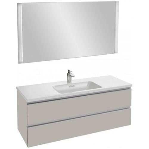Мебель для ванной Jacob Delafon Vox 120 подвесная серый титан глянцевый