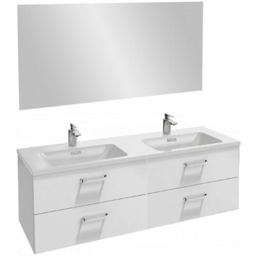 Мебель для ванной Jacob Delafon Vox 140 подвесная с 4-мя ящиками с изогнутой ручкой белый блестящий лак