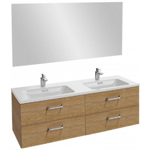Мебель для ванной Jacob Delafon Vox 140 подвесная с 4-мя ящиками с изогнутой ручкой ореховое дерево