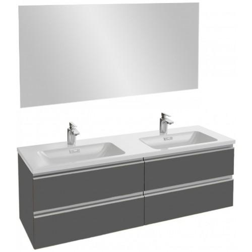 Мебель для ванной Jacob Delafon Vox 140 подвесная серый антрацит глянцевый
