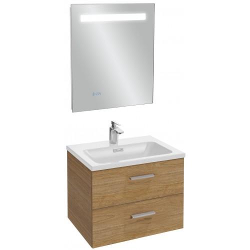 Мебель для ванной Jacob Delafon Vox 60 подвесная с 2-мя ящиками с прямой ручкой ореховое дерево