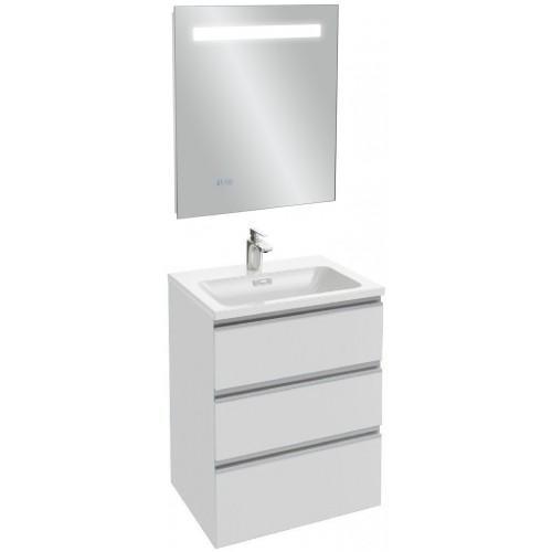 Мебель для ванной Jacob Delafon Vox 60 подвесная с 3-мя ящиками белый блестящий лак