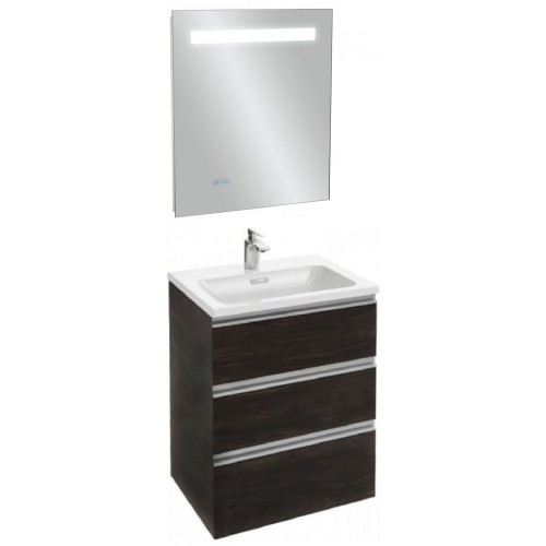 Мебель для ванной Jacob Delafon Vox 60 подвесная с 3-мя ящиками черное дерево