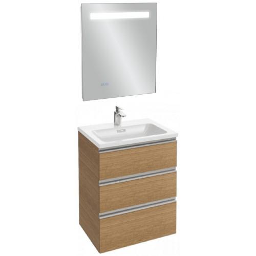 Мебель для ванной Jacob Delafon Vox 60 подвесная с 3-мя ящиками ореховое дерево