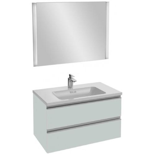 Мебель для ванной Jacob Delafon Vox 80 подвесная голубой шторм сатин