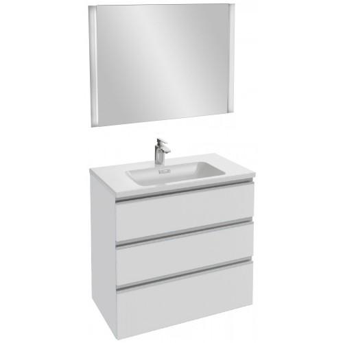 Мебель для ванной Jacob Delafon Vox 80 подвесная с 3-мя ящиками белая блестящая